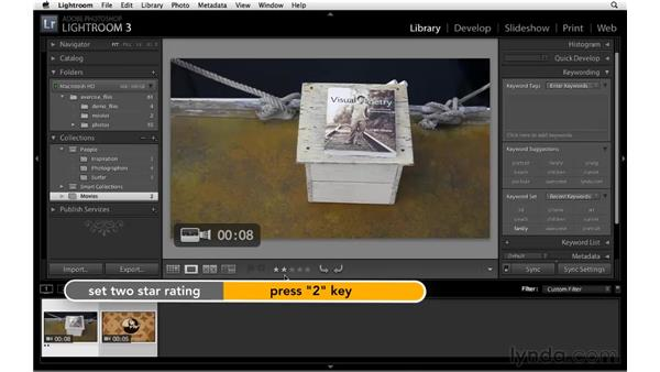 Working with movies: Lightroom 3 New Features