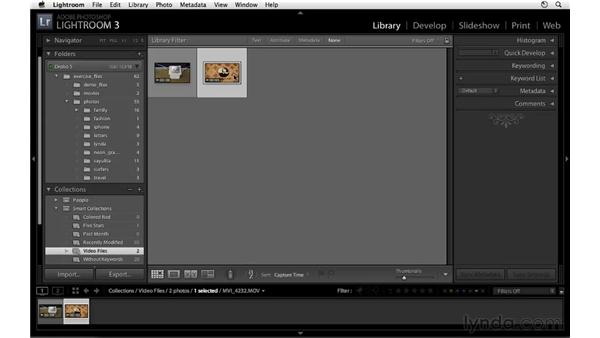 Using Smart Collections for video files: Lightroom 3 New Features
