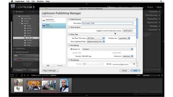 Setting up Flickr publishing services: Lightroom 3 New Features