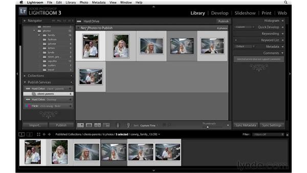 Publishing to a folder: Lightroom 3 New Features