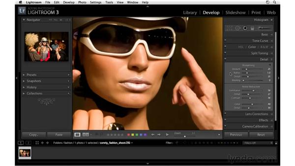 Applying sharpening and noise reduction: Lightroom 3 New Features