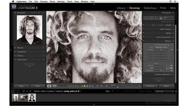 Adding a grain effect: Lightroom 3 New Features