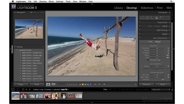 Using the Lens Correction controls: Lightroom 3 New Features