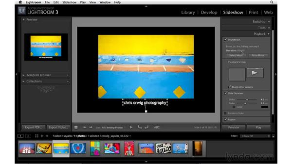 Adding audio to a slideshow: Lightroom 3 New Features