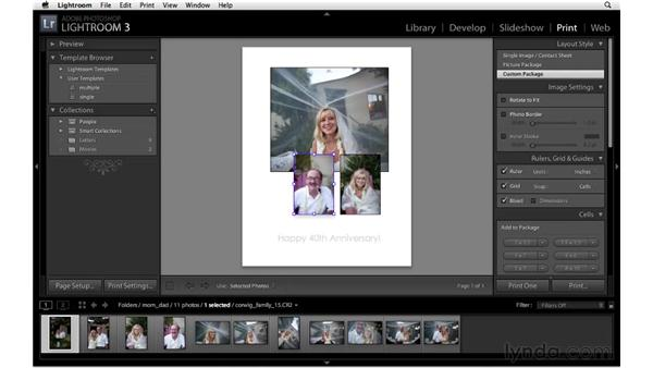 Introducing the custom print package: Lightroom 3 New Features