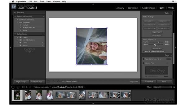 Working with the custom print package: Lightroom 3 New Features