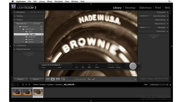 Working with tethered shooting: Lightroom 3 New Features