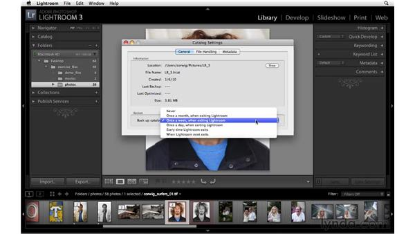 Optimizing and backing up a catalog: Lightroom 3 New Features
