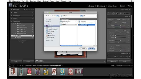 Exporting collections: Lightroom 3 New Features