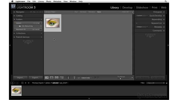 Ejecting an external hard drive: Lightroom 3 New Features
