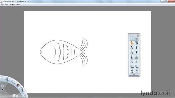 Using the Symmetry X tool: SketchBook Pro 2010 Essential Training