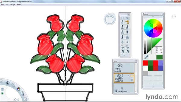 Using the color selector: SketchBook Pro 2010 Essential Training