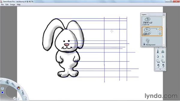 Creating views with gridlines: SketchBook Pro 2010 Essential Training