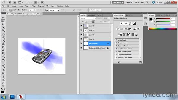 Exporting and importing files: SketchBook Pro 2010 Essential Training