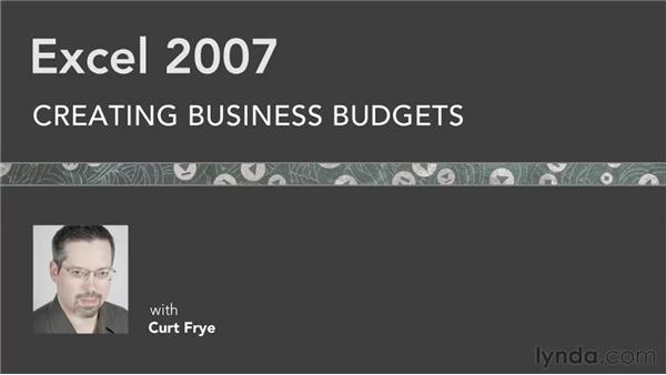 Goodbye: Excel 2007: Creating Business Budgets