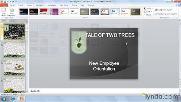 Using the Office Ribbon: PowerPoint 2010 Essential Training
