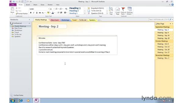 Seeing all your notes with automatic text wrapping: OneNote 2010 New Features