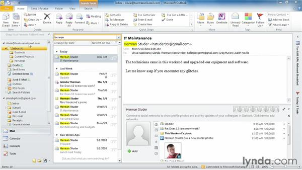 : Outlook 2010 Essential Training