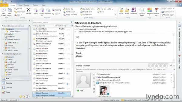 Finding the inbox: Outlook 2010 Essential Training
