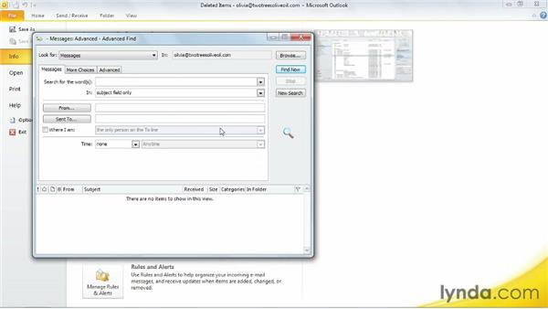 Cleaning up your inbox automatically: Outlook 2010 Essential Training