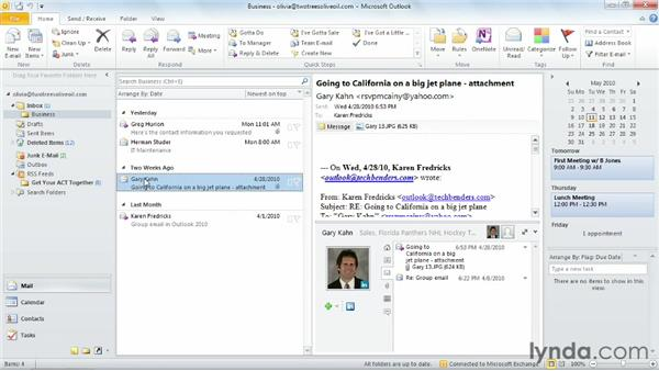 Outlook Social Connector: Outlook 2010 Essential Training