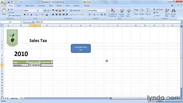 Running a VBA routine: Up and Running with VBA in Excel