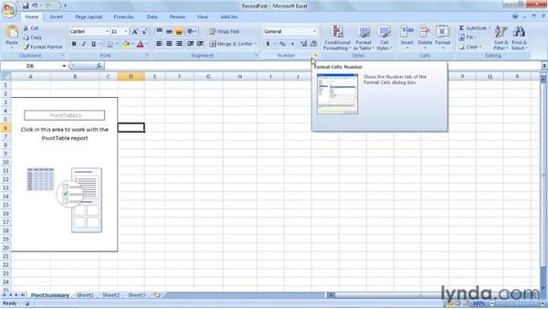 Adding code to a recorded macro: Up and Running with VBA in Excel