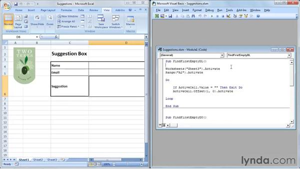 Repeating a task with a Do loop: Up and Running with VBA in Excel