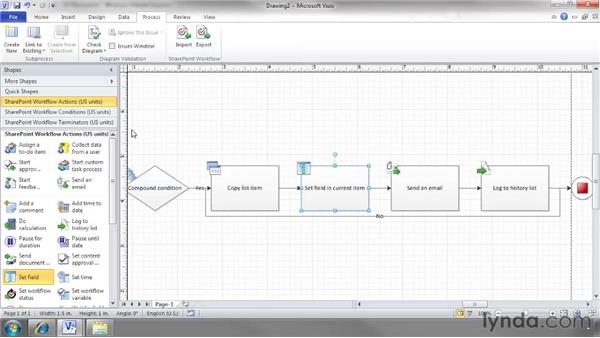 Creating your own workflows with Visio: SharePoint 2010 Essential Training