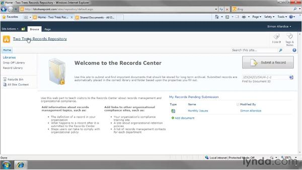 Creating a Record Center: SharePoint 2010 Essential Training