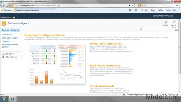 Creating a Business Intelligence Center: SharePoint 2010 Essential Training
