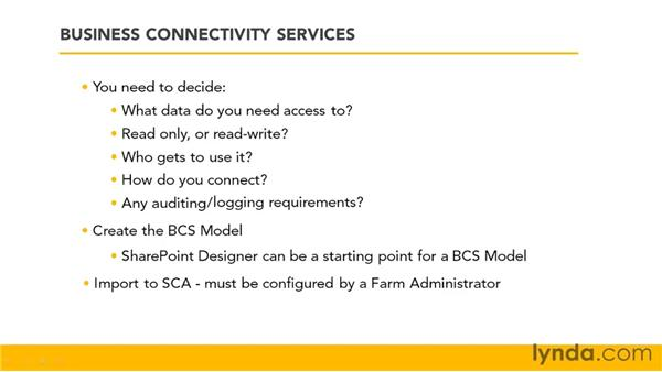 Using Business Connectivity Services (BCS): SharePoint 2010 Essential Training