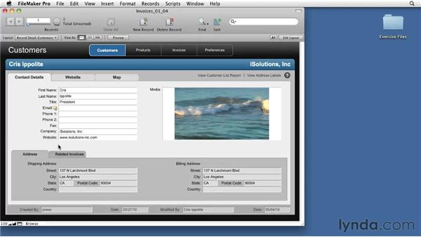 Touring the interface: FileMaker Pro 11 Essential Training