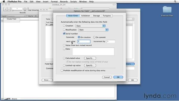 Defining primary and foreign keys: FileMaker Pro 11 Essential Training