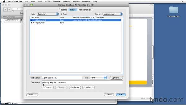 Defining fields: FileMaker Pro 11 Essential Training