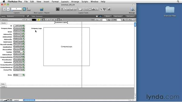 Exploring the Status Area in Layout mode: FileMaker Pro 11 Essential Training