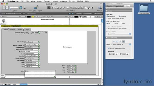 Using the Tab Control feature: FileMaker Pro 11 Essential Training