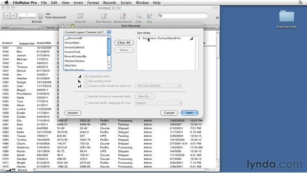 Sorting with related fields : FileMaker Pro 11 Essential Training