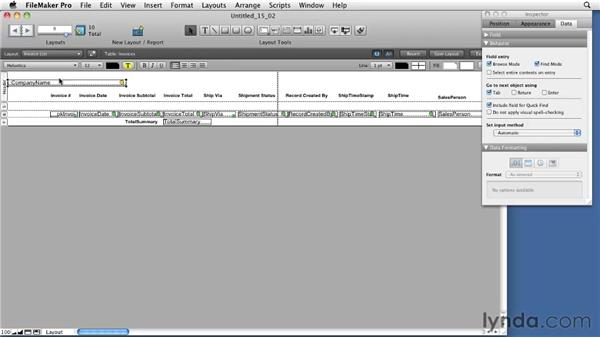 Creating subsummary reports: FileMaker Pro 11 Essential Training
