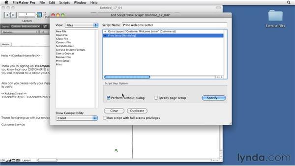 Creating multi-line scripts: FileMaker Pro 11 Essential Training