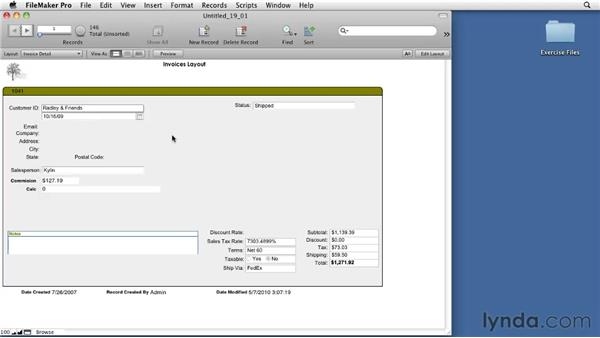 Using related fields: FileMaker Pro 11 Essential Training