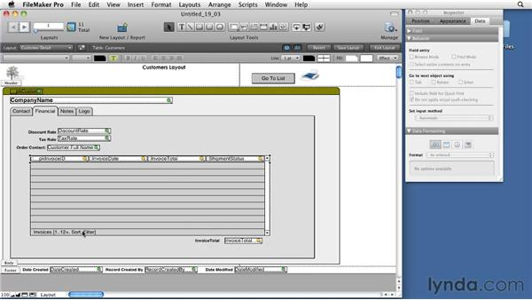 Using related fields in calculations: FileMaker Pro 11 Essential Training