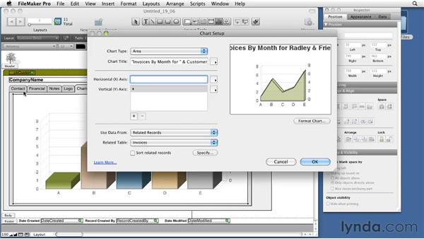 Creating a chart: FileMaker Pro 11 Essential Training