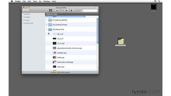 Using the exercise files: Lightroom 3 Essential Training