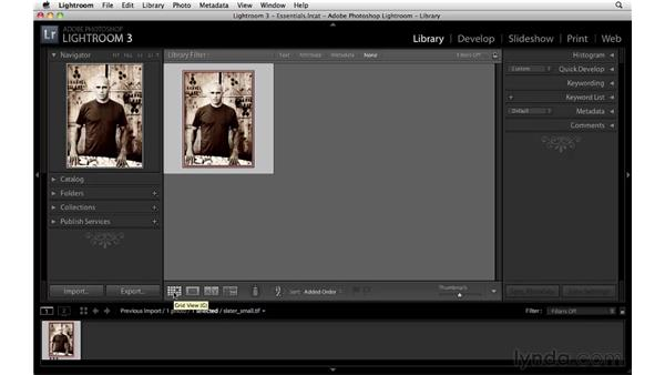 The Lightroom interface: Lightroom 3 Essential Training