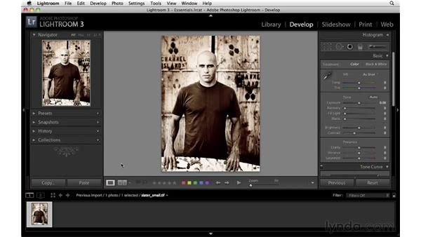 Using the interface shortcuts: Lightroom 3 Essential Training