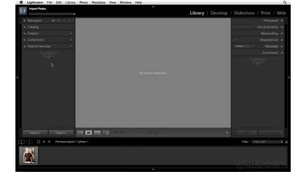 Changing the panel end marks: Lightroom 3 Essential Training