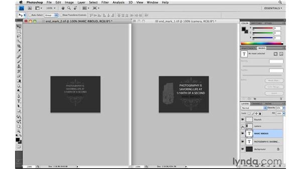 Creating a custom panel end mark: Lightroom 3 Essential Training