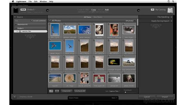Introducing the Import dialog: Lightroom 3 Essential Training