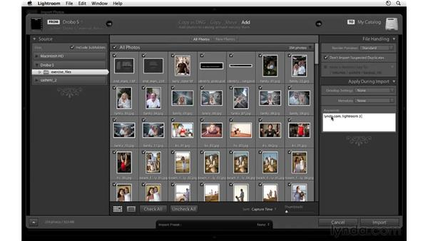 Importing photos from a folder: Lightroom 3 Essential Training